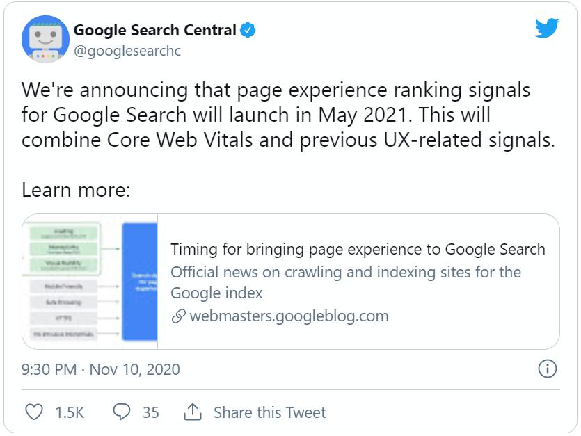 Core Web Vitals by Google