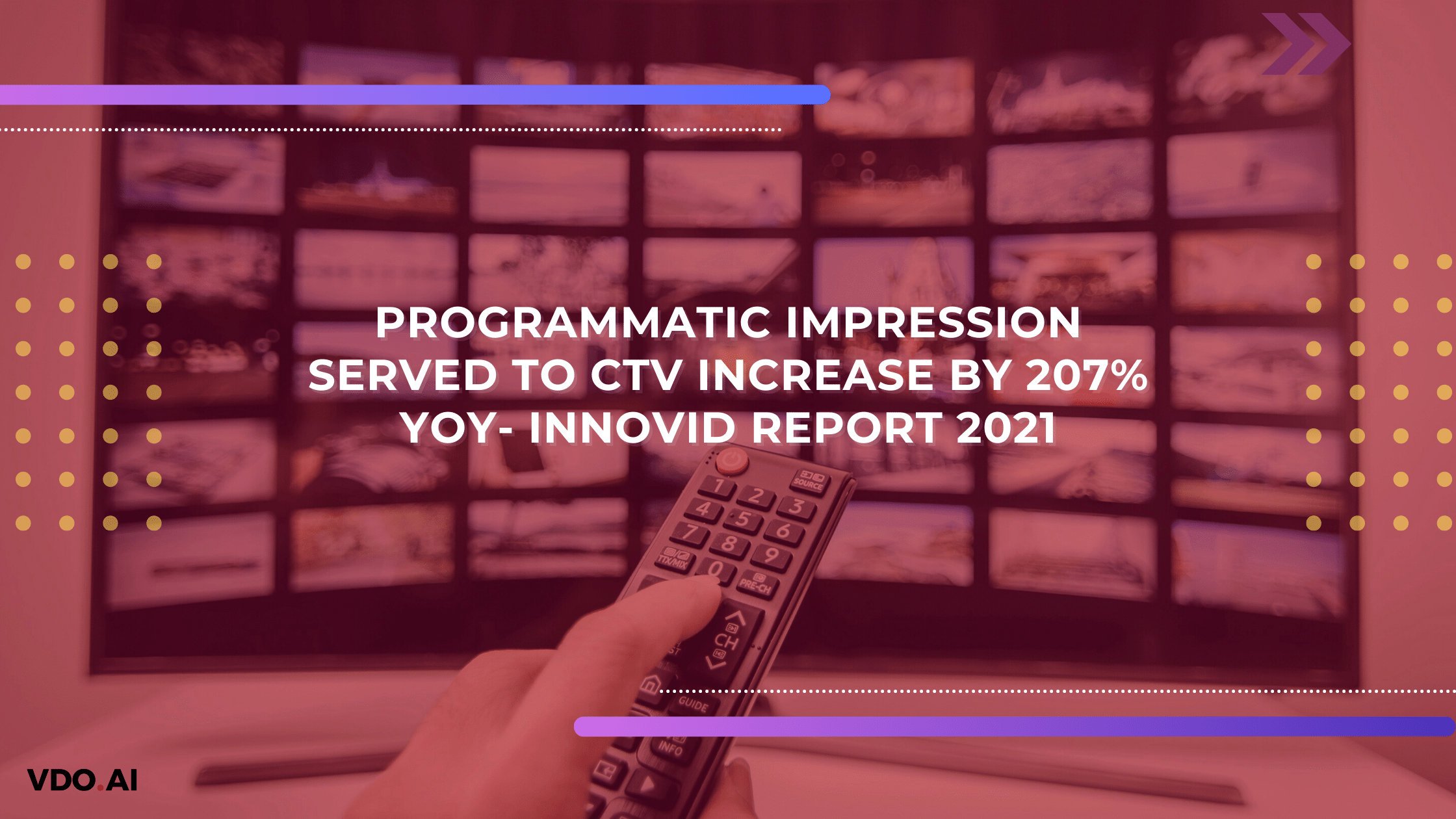 Programmatic impression served to CTV increase by 207% YOY- Innovid Report 2021